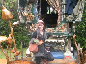 Me out the front of my DREAM caravan in England! I want this so badly