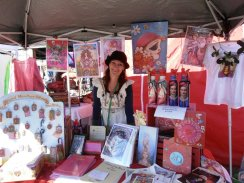 Me at my market stall in Byron Bay :)