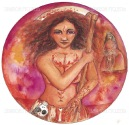 Anat or Anath is a warrior Goddess, the maiden who loves battle, the virgin Goddess of sacrifice, a warrior and archer.