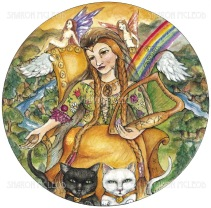 In Norse mythology, Freya is a goddess of love and fertility, and the most beautiful and propitious of the goddesses. She is the patron goddess of crops and birth, the symbol of sensuality and was called upon in matters of love. She loves music, spring and flowers, and is particularly fond of the fairies.