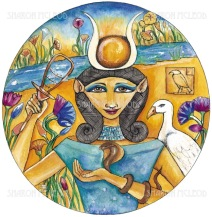 Hathor was the Ancient Egyptian goddess who personified the principles of joy, feminine love, and motherhood. She was one of the most loved and admired goddesses in Egypt.