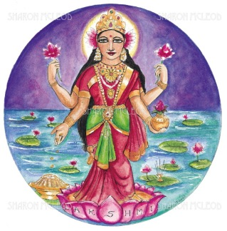 Lakshmi is the hindu goddess of wealth, prosperity, and is believed to be the embodiment of beauty.