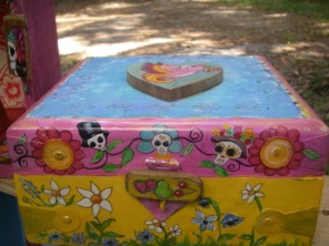 Handpainted Mexican Skeleton Box